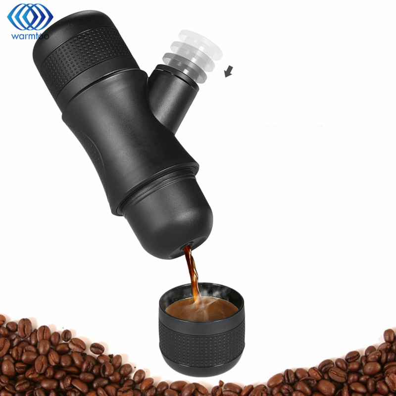 купить Portable Manual Coffee Maker Brewer Drinkware Compact Manual Espresso Maker Home Office Outdoors Coffee Making Tools Helper дешево