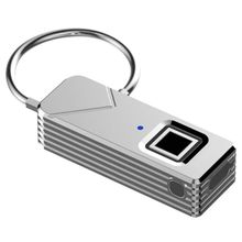 Outdoor Rechargeable Smart Keyless Fingerprint Lock Top Security Padlock For Travel Bags Luggage Suitcase Backpack