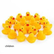 AC0200015 20 шт./лот Kawaii Детские плавающей писклявый резиновый уток детские игрушки для купания для мальчиков и девочек плавательный бассейн весело