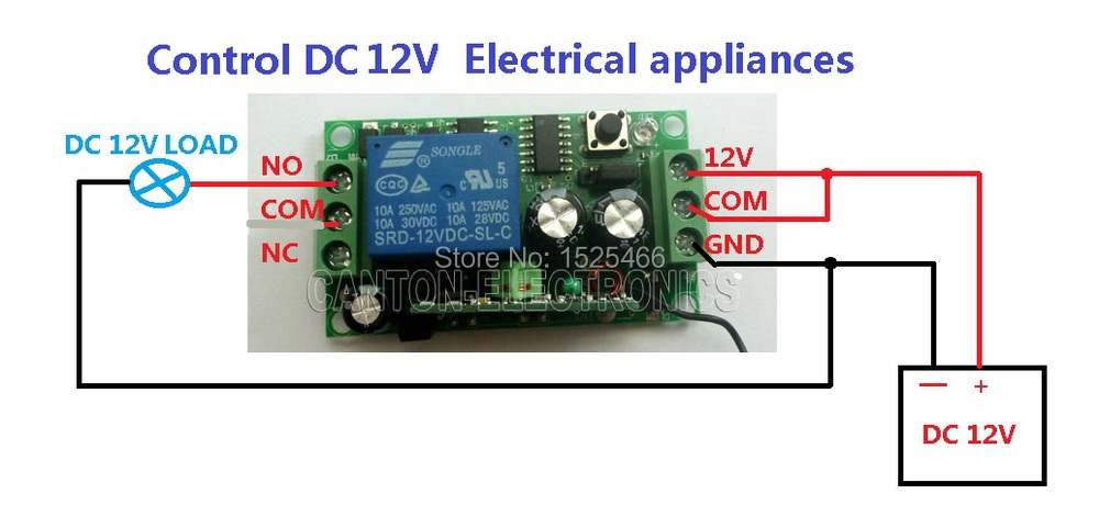 12v Remote Control Wiring Diagram - Machine Repair Manual on