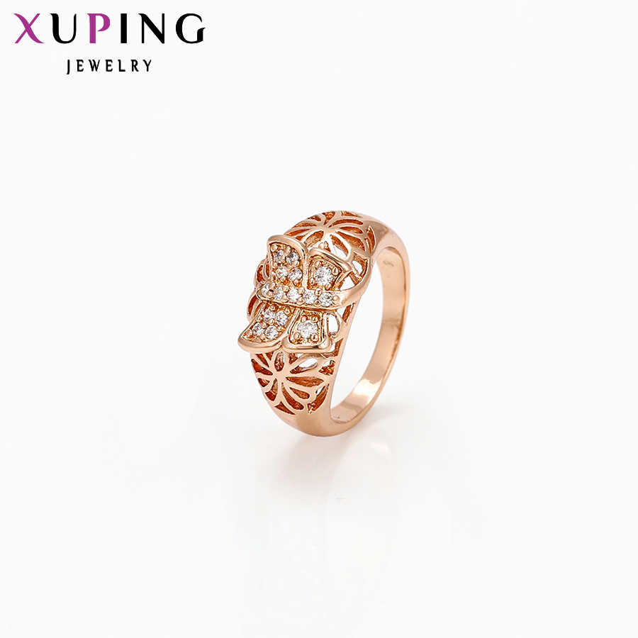 Xuping Fashion Kualitas Tinggi Mewah Wanita Warna Emas Berlapis Sempurna Wanita Pertunangan Hari Valentine S31, 3 \ S25 3-11418