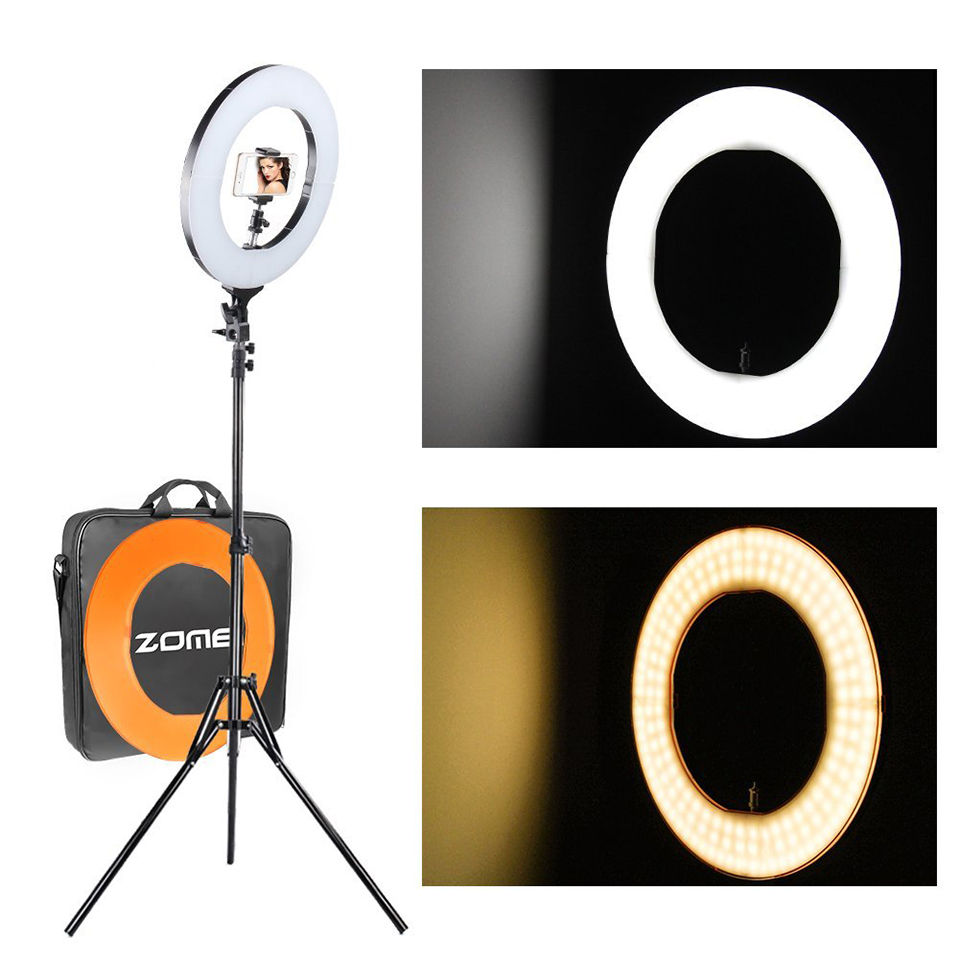 ZOMEI Dimmable LED SMD Ring Light Photographic Ligting 41W Outer Plastic Color Filter Set Stand for Camera Photo/Video Shooting рфс p1150311 41w