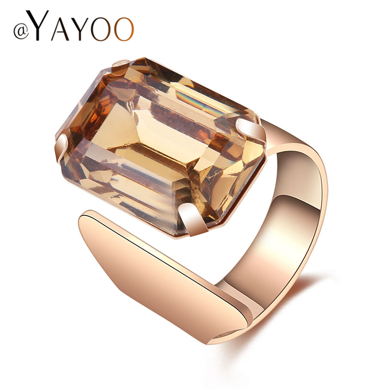 Ayayoo Rings Wedding Engagement Jewelry For Women Dubai Africa Ethiopian Costume Accessories Vintage Ring Gold Color In From