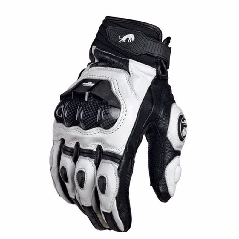 Carbon fibre Motorcycle Gloves Leather Touch Screen Moto Glove Men Protective Gears Motocross Glove Cycling Bike