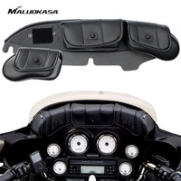 MALUOKASA 3 Pockets Motorcycle Windshield Fairing Saddle Pouch Bag For Harley Electra Street Glide Touring Bike