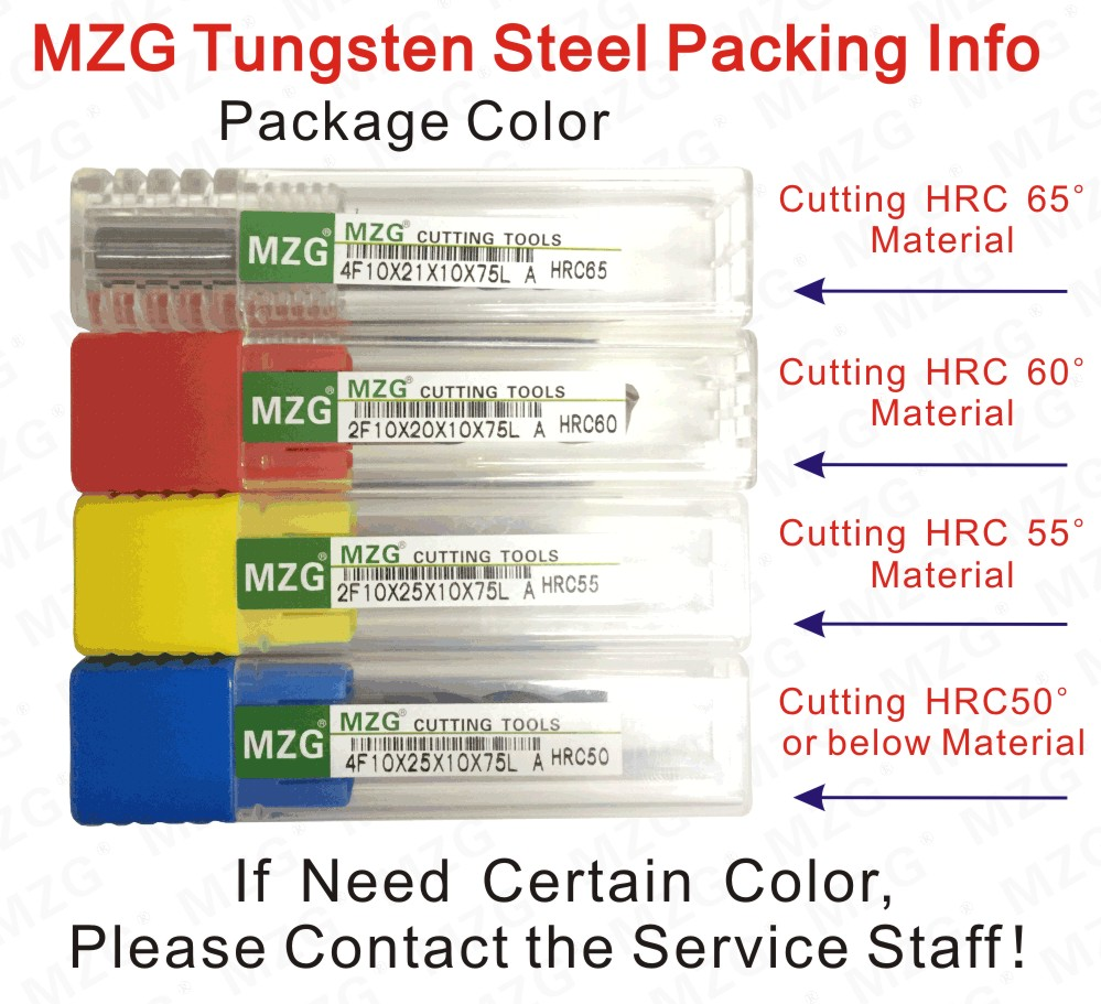 MZG Tungsten Steel Packing Info