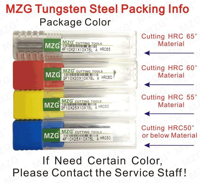 MZG Tungsten Steel Packing Info