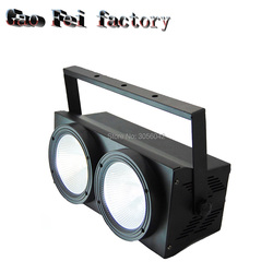 2 occhi 2x100 cob alta luminosità Caso di Alluminio bianco bianco e caldo 200 W cob ha condotto la luce par per la vendita dmx luce della fase