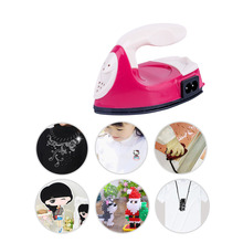 MrY Portable Mini Electric Crafting Irons Non-Stick Soleplate Handmade Beans Mini Electric Iron US/ EU Plug Boards Travel Irons