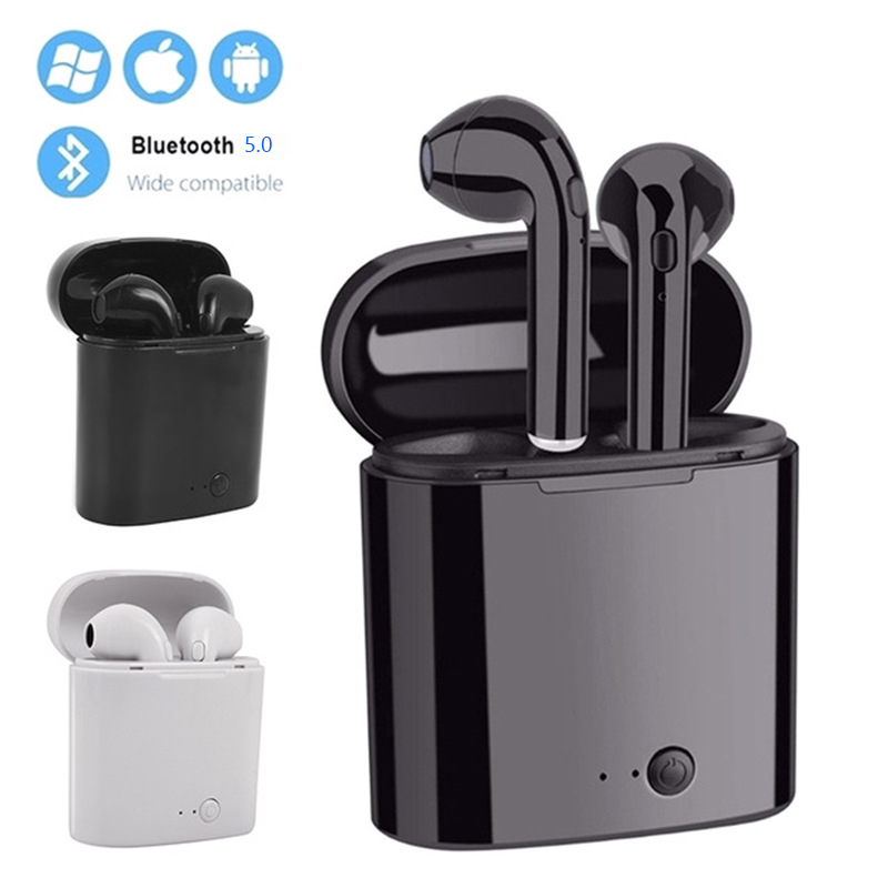 <font><b>Mini</b></font> <font><b>Bluetooth</b></font> <font><b>Earphone</b></font> <font><b>5.0</b></font> i7s <font><b>tws</b></font> sport Handsfree <font><b>Wireless</b></font> Headphones with Mic For All <font><b>Smart</b></font> Phone <font><b>Bluetooth</b></font> Headset Gaming image