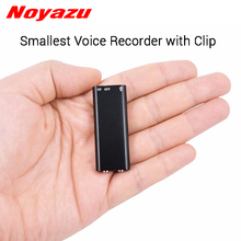 Noyazu N17 Smallest Professional Voice Recorder 8G 16G Dictaphone USB Digital Audio Voice Recorder Mini MP3 Player with Clip цена