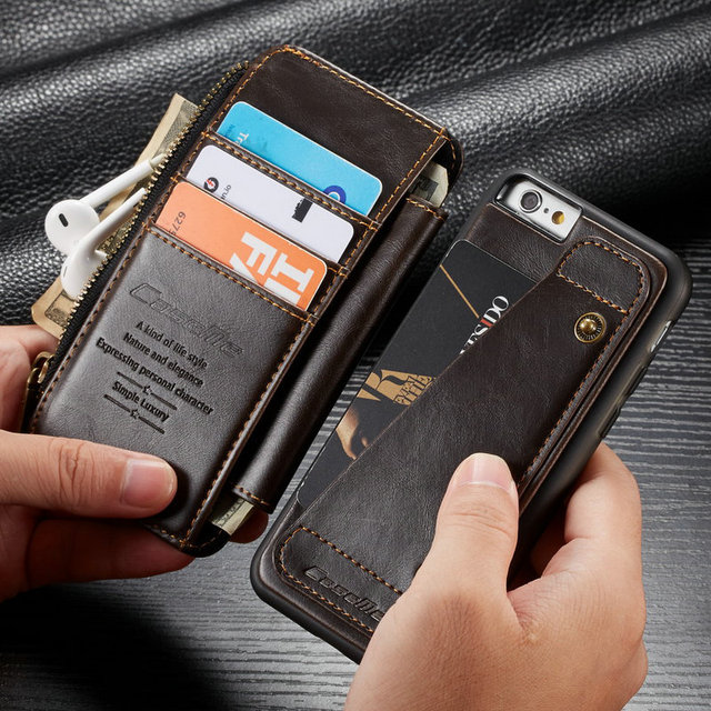 b92b345db55 Card Slot Wallet Case For IPhone 7 8 7 8Plus Stand Holder Leather Phone  Cases For