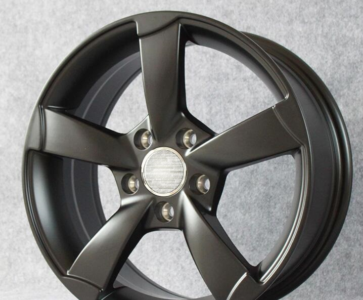 Jantes de voiture en alliage tout noir 16 pouces 16x7.0 5x112, adaptées aux Audi A3 A4 A6 S6