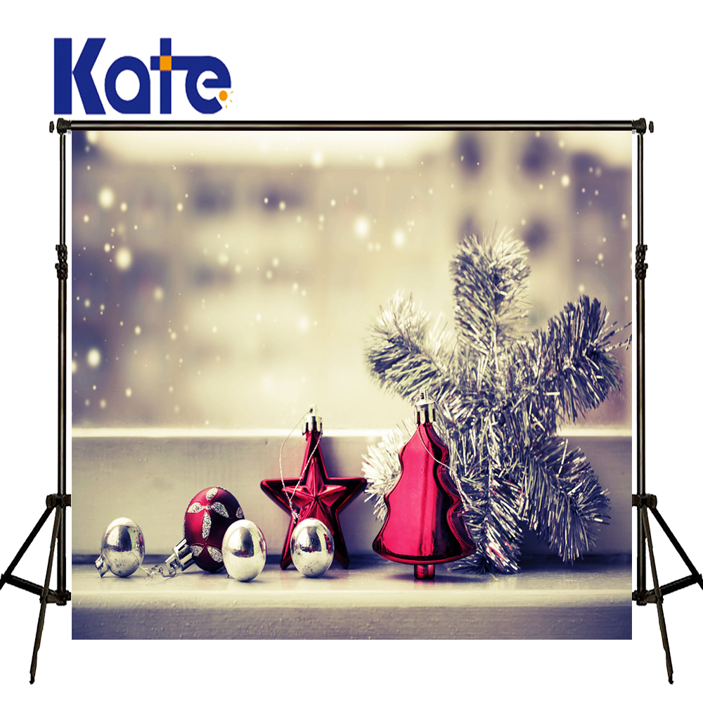 KATE Photography Backdrops Christmas Backdrop Photo Background Ball Snow White Background Children Photo Background