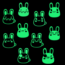 купить ILOKY new 3d wall stickers for kinds rooms DIY Rabbit Cartoon Luminous Switch Sticker Glow in the Dark Wall Stickers Home Decor по цене 39.73 рублей