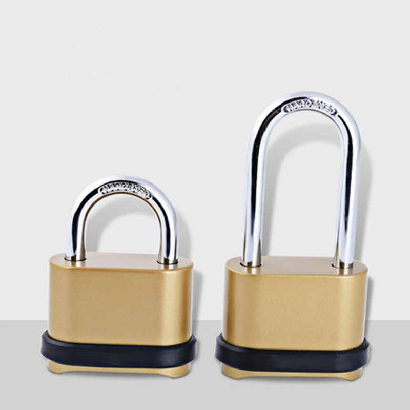 Fashion gold password lock bottom hide Resettable 4 Digit code <font><b>padlock</b></font> <font><b>tsa</b></font> travel lock for luggage Security antitheft Hardware image