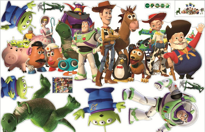 1X Removable Wall Sticker Toy Story Wall Stickers Cute Cartoon Boy  Childrenu0027s Room(China ( Part 45