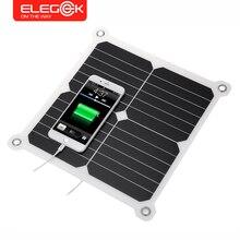 Elegeek 5 В 13 Вт Портативный складной солнечный Панель Зарядное устройство солнечная телефон/Tablet/Батарея Зарядное устройство Dual USB Выход для iphone Sumsung IPad