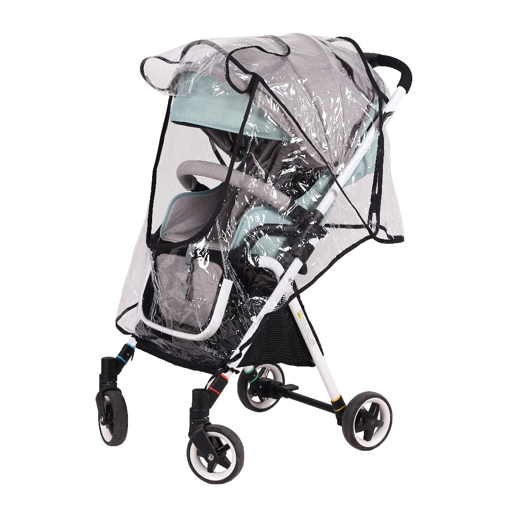 Strollers Accessories Baby Stroller Accessories Universal Waterproof Rain Cover Wind Dust Shield Zipper Open For Baby Strollers Pushchairs
