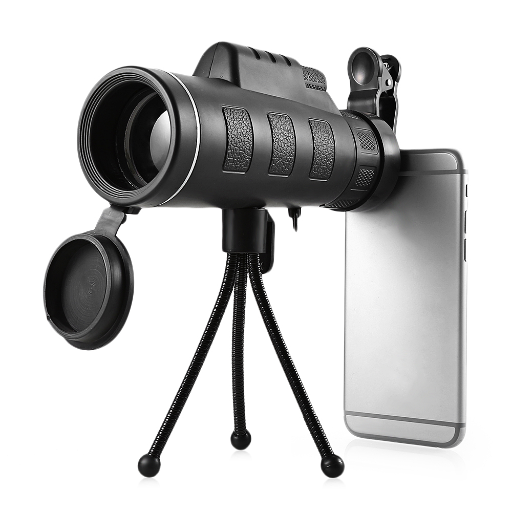 Outlife 40X60 Monocular Telescope HD Night Vision Prism Scope Portable with Phone Clip for Bird watching hunting 10x26 night vision binoculars hd bak4 prism waterproof telescope portable hand outdoor hunting spotting scope souvenir