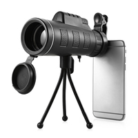 40X60 Monocular Telescope HD Night Vision Prism Scope With Phone Clip Tripod