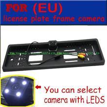 ЕС Автомобильный Номерной знак Рамка сзади/вид спереди Камера для европейских автомобилей с CCD HD 4 светодиодных ИК свет Водонепроницаемый IP68 широкоугольный