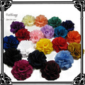 """24pcs/lot Free Shipping 2""""  Chiffon Fabric rose Flower  For Baby Girls Hair Accessories Hand Craft 20colors for your pick"""