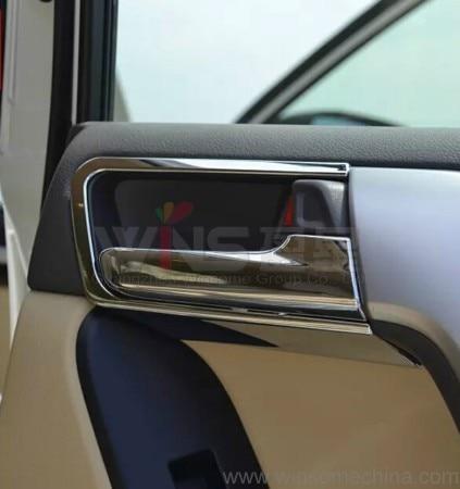 Prix pour Pour Toyota Land Cruiser Prado LC150 FJ150 2010-2016 Chrome Intérieur Poignée De Porte Bol Insert De Voiture Styling Tuning Accessoire