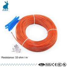 12 К 100 метров углеродного волокна низкая стоимость отопления провод нагревательный кабель Антивирус замораживания теплоизоляция система отопления пола