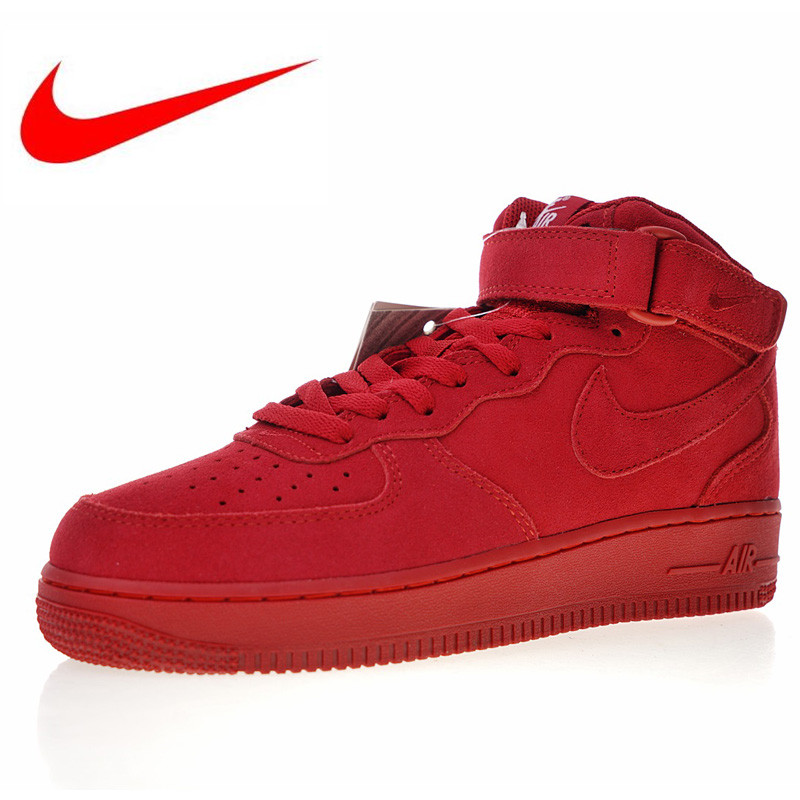 High Quality Nike Air Force 1 Mid 07 Suede Men Skateboarding Shoes Outdoor  Sneakers Lightweight 315123 302 315123 609-in Skateboarding from Sports ... 3087d2741614