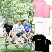Nuevo Kpop BTS bangtan Niños Jimin mismo alrededor camisa versión coreana de manga corta redondo Masajeadores de cuello Camisetas hombres y camiseta de las mujeres