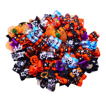 10PCS/5pairs  Halloween Design Dog Pet Hair Bows For holidays Cat Festival grooming Charms accessories