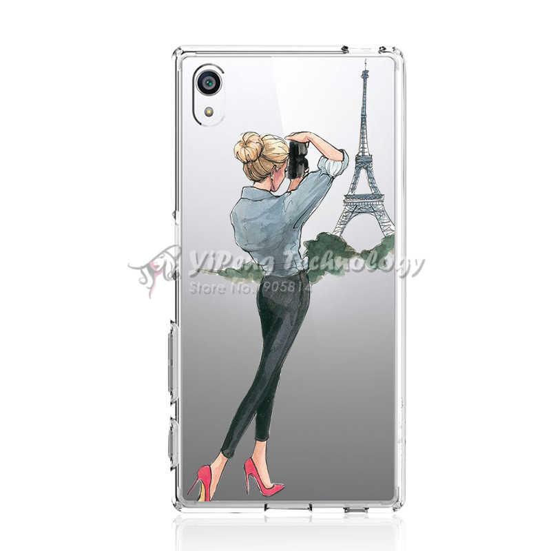 Đáng Yêu Mềm Mại Ốp Lưng Cho Sony Xperia Z1 Z3 Z5 Mini Nhỏ Gọn Dành Cho M2 Xa Z L36h Z2 C4 SP m35h Silicone Dẻo