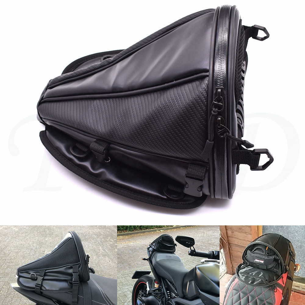 New carbon fiber color motorcycle tail bag seat backpack handbag For Honda <font><b>VFR1200</b></font> VFR1200F VFR750 VFR750S VTR1000F VTX1300 CBR image