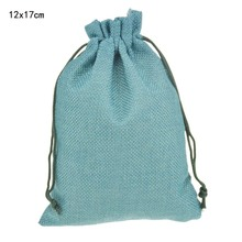 12x17cm 50pcs/lot Army Green Custom Jute Drawstring Bag with Pouch Sack Favor Gift jewelry package bag for Weddings Parties