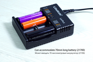 Image 5 - Liitokala Lii PL4 18650 Battery Charger 21700 26650 18350 Aa Aaa Snelle Mart Lader Voor Li Ion 4.2V / 4.35V li Fe 3.6V Ni Mh 1.2V