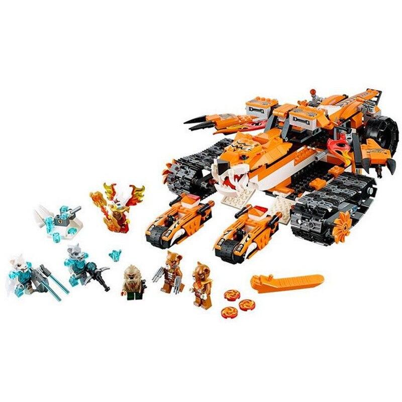 ФОТО Bela 10357 Chimaed Building Blocks Sets God tiger Tribe Super chariot Kids Bricks Toys  T289