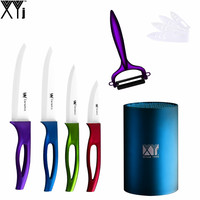 Best Kitchen Accessories High Grade Kitchen Knives XYJ Brand 4 Piece Ceramic Knife Set Peeler PP