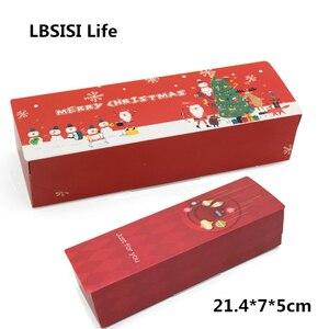 Image 3 - LBSISI Đời 5 Chiếc Kẹo Bánh Quy Bánh Nougat Hộp Giấy Cảm Ơn Bạn Giáng Sinh Vui Tay Hộp Quà Tặng