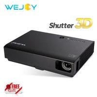 Wejoy лазерный 3D ТВ проектор DL-310 с 3D очки мини-светодио дный проектор LED HD 1080 P Beamer домашний кинотеатр DLP Android портативный Proyector