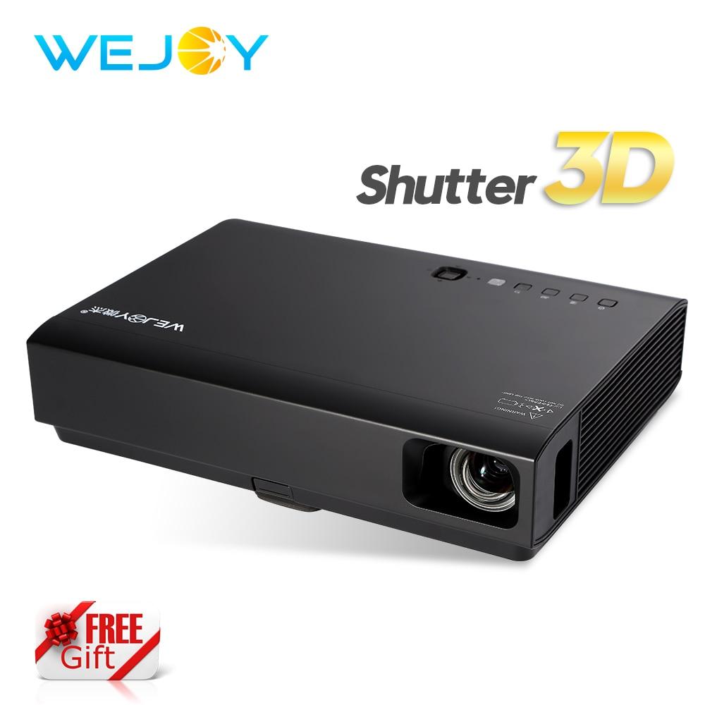 Wejoy 3D Mini Projektor mit 3D-Brille LED & Laser Projektor DL-310 HD - Heim-Audio und Video