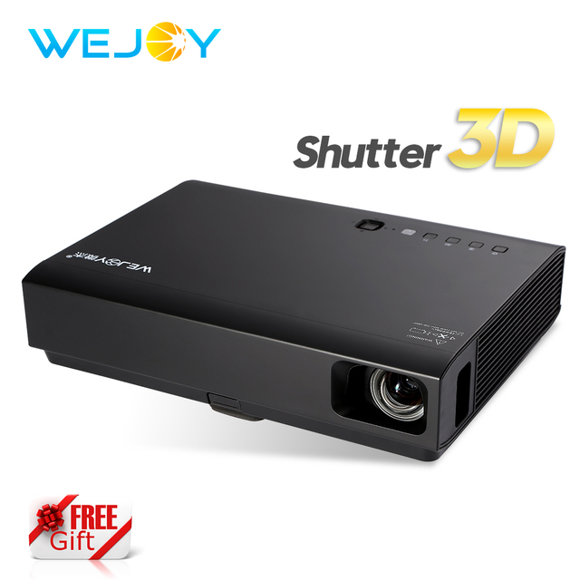 Special Price Wejoy Laser 3D TV Projector DL-310 with 3D Glasses Mini Projector LED HD 1080P Beamer Home Cinema DLP Android Portable Proyector