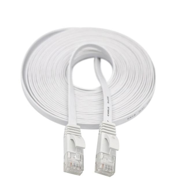 Câble HDMI HDMI CAT6 Ethernet réseau LAN câble plat UTP Patch routeur intéressant Lot 15M extension 0508