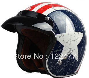 Free shipping!!! TORC Open face motorcycle helmet T50 Lucky star Captain America