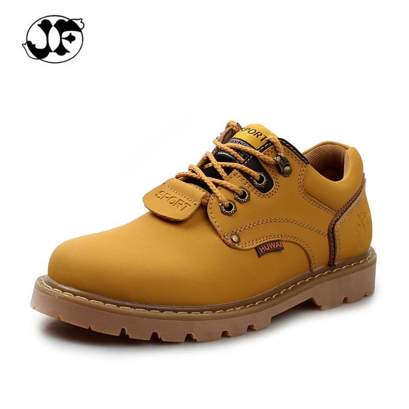 Invierno Del Otoño Del Resorte de Los Hombres Botines zapatos de Cuero Genuinos