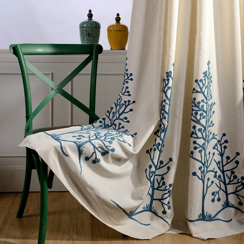 árvores folha roman cortinas blackout janela vorhang