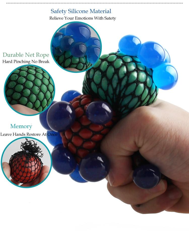 Lucu Squeeze Grape Bola Squishy Toy Anti Stres Reliever Autism - Mainan lucu - Foto 3