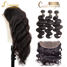 Joedir Hair Short Lace Front Human Hair Wigs Brazilian Body Wave Bundles With Closure Human Hair Lace Front Wigs Black Women
