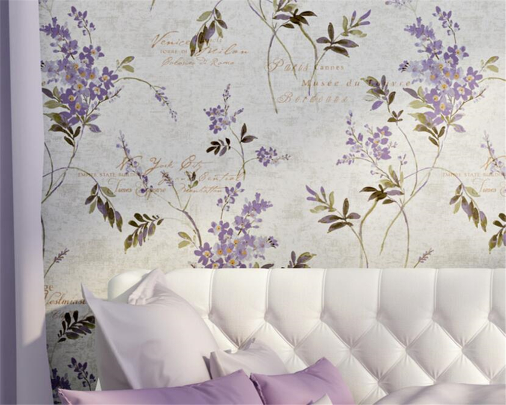Beibehang 3d wallpaper Warm pastoral large flower 3D tapeten  living room bedroom romantic full of wallpaper papel de parede large mural papel de parede european nostalgia abstract flower and bird wallpaper living room sofa tv wall bedroom 3d wallpaper