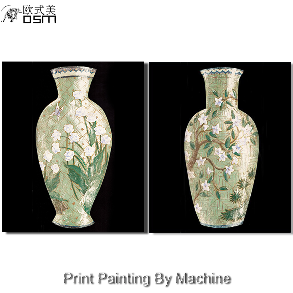Print China Tranditional Art Beautiful Two Pieces Blue And White